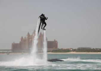 Flyboard in movimento