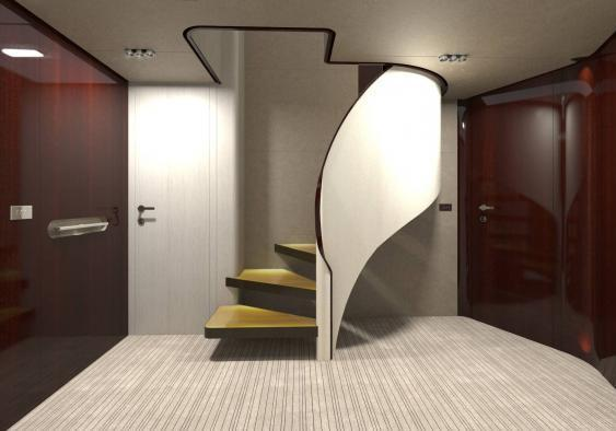 Azimut Grande 95RPH lobby guess stairs
