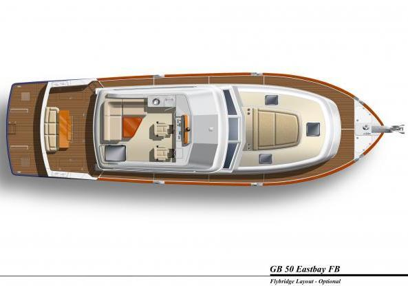 Grand Banks 50 Eastbay Flybridge layout optional
