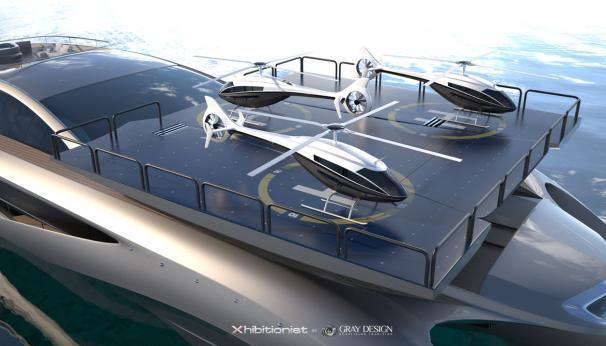 Gray Design Xhibitionist concept Superyacht 022