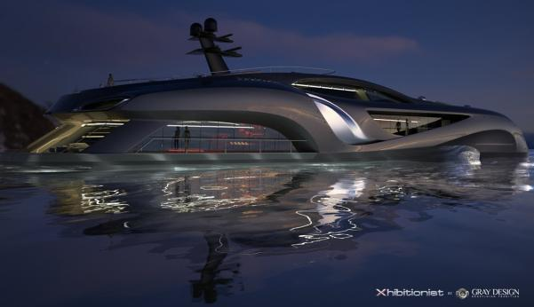 Gray Design Xhibitionist concept Superyacht 088